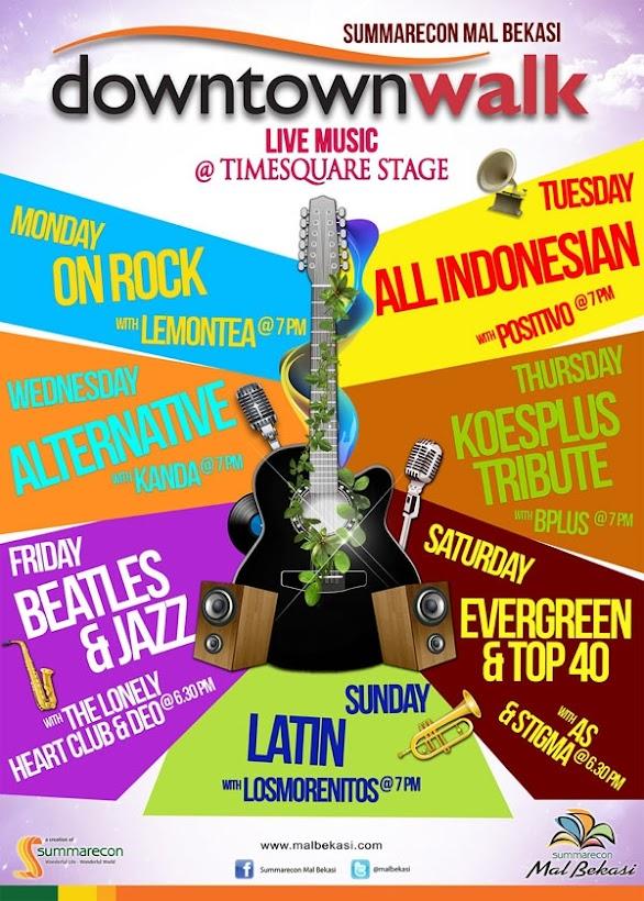 Jadwal Live Music Downtown Walk Summarecon Bekasi