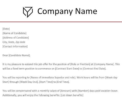 Contract Offer Letter