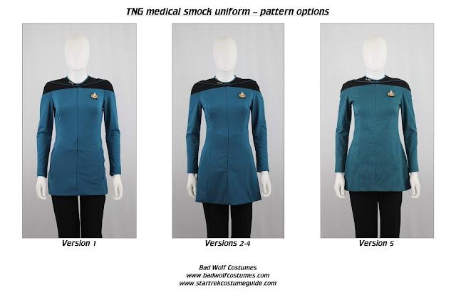 Women's TNG medical smock sewing pattern