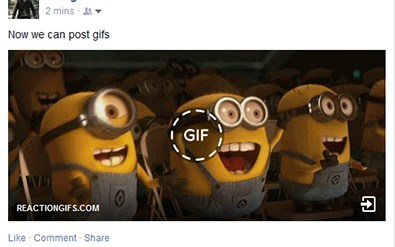 how do i post a gif to facebook