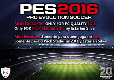 PES 2016 MOD Pack Stadiums 2.0 PC for PC Quality Low