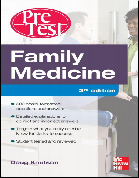 Family Medicine PreTest Self-Assessment And Review (3rd Ed.)