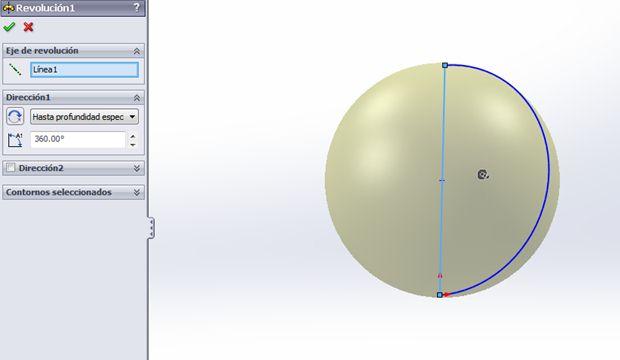 revolución bola de navidad con Solidworks