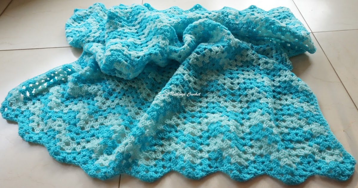 Sweet Nothings Crochet Granny Ripple Afghan For A Baby Boy
