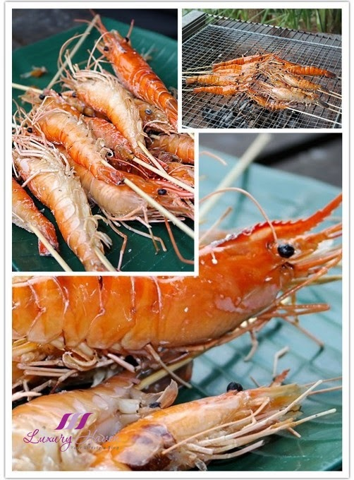 kranji farm bbq fresh water blue claw prawns
