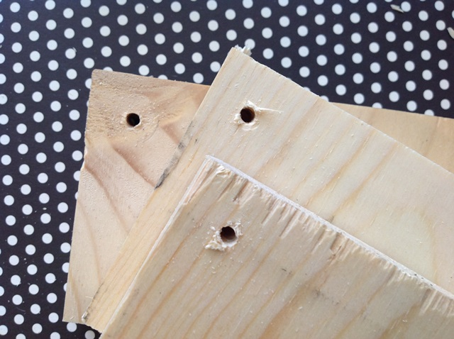 Prepare the wood by cutting, drilling, and lightly sanding