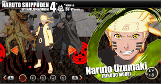 Naruto Shippuden ninja storm 4 PPSSPP MOD APK Terbaru