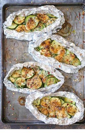 Zucchini Parmesan Foil Packets