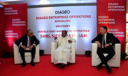 Diageo welcomes Shri Siddaramaiah, Hon'ble Chief Minister of Karnataka  to open its new Business Service Centre in Bengaluru