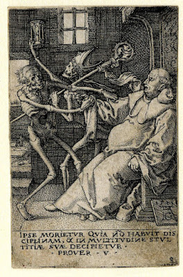 The Power of Death - Allegory of Original Sin and Death Print made by Heinrich Aldegrever After Hans Holbein the Younger Date 1541