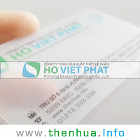 Card Nhựa Trong - Công Ty Hồ Việt Phát