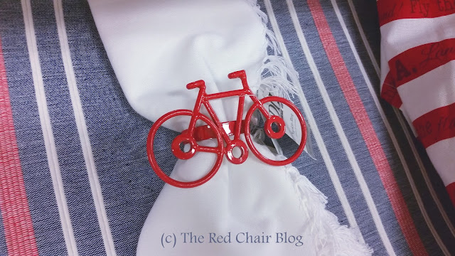 Bicycle napkin rings from Steinmart spotted on The Red Chair Blog
