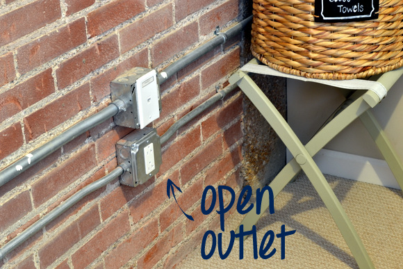 Open Electrical Outlet