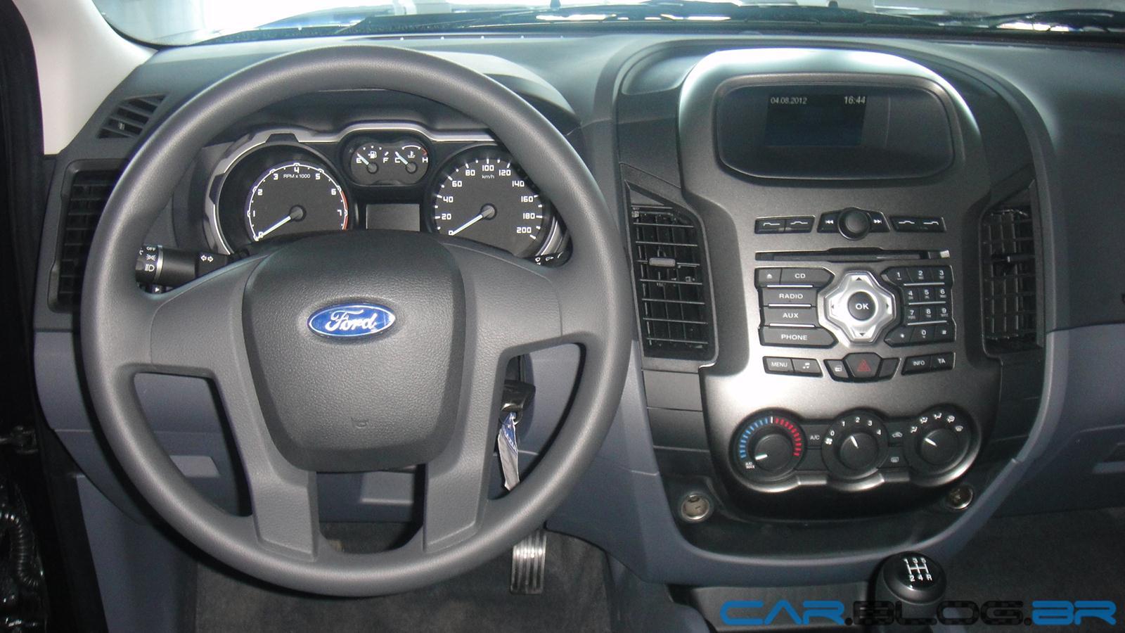 Nova ford ranger xls cabine dupla 2 5 flex 2013 fotos pre o e especifica es car blog br - Foto foto interior ...