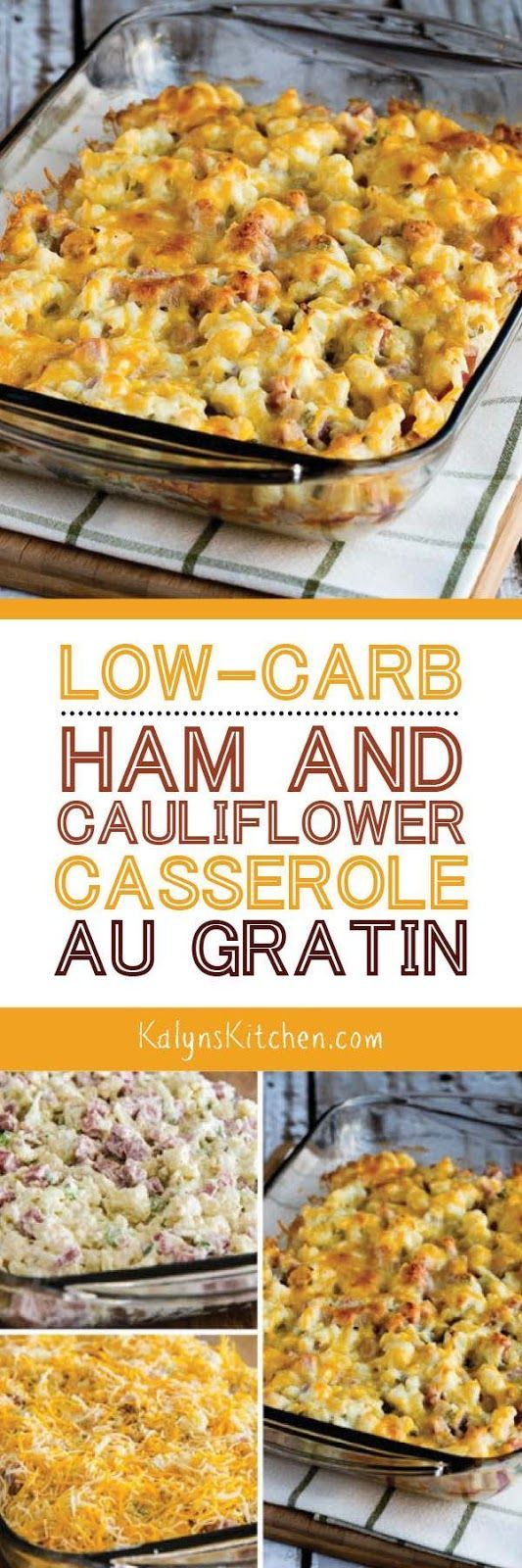 LOW-CARB HAM AND CAULIFLOWER CASSEROLE AU GRATIN