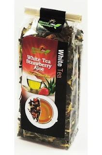 Ceai alb cu aloe vera si capsuni