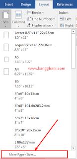 Mengatur Ukuran Kertas F4 di Microsoft Word dan Exel