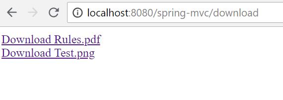 Spring MVC file download