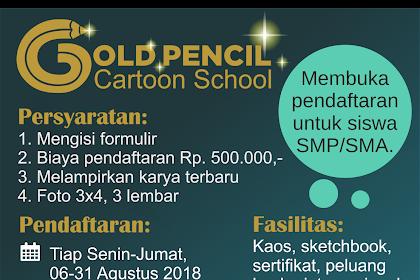 Gold Pencil buka sekolah kartun untuk pelajar SMP & SMA