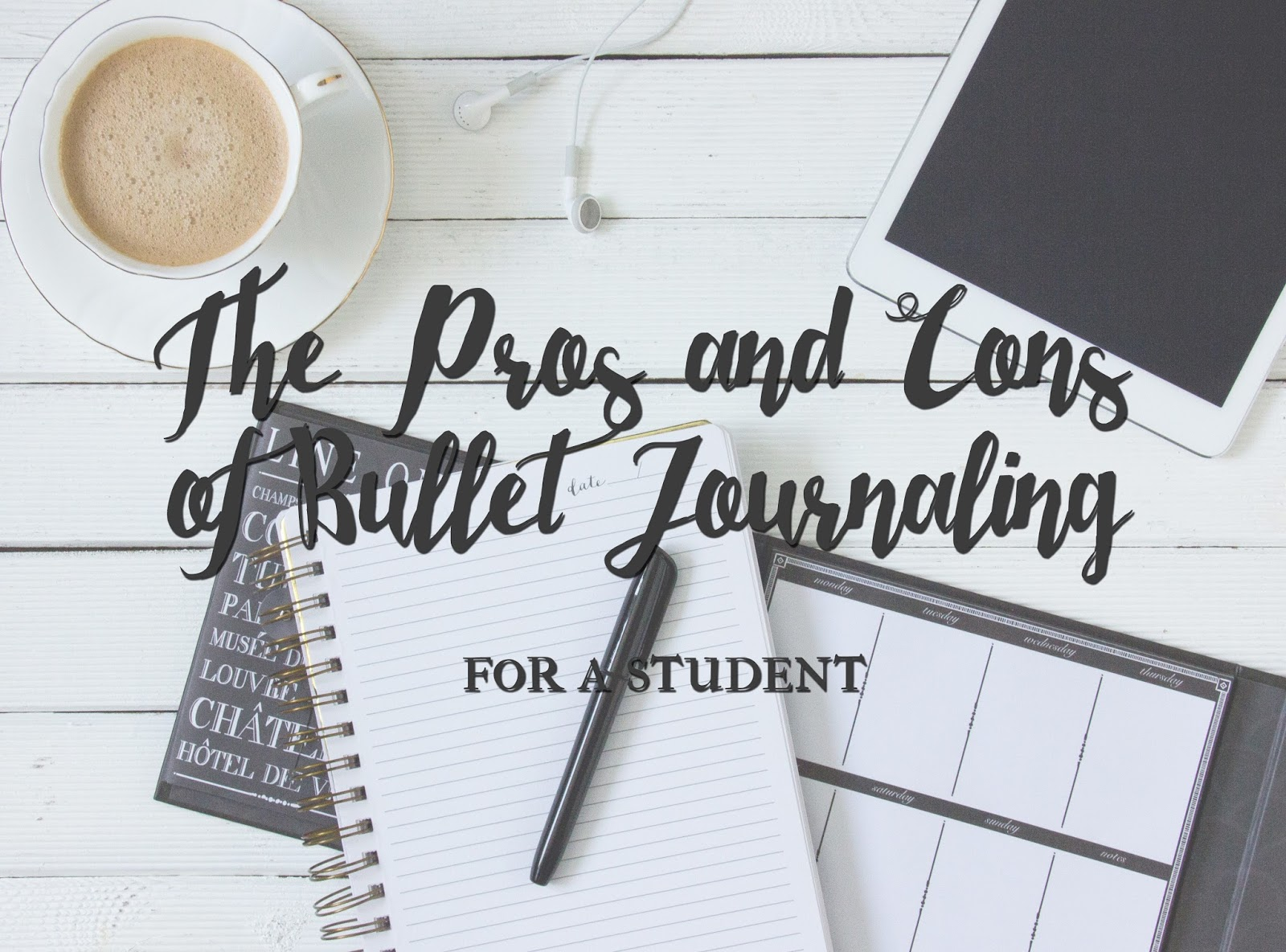 Pros and Cons of Bullet Journal for Students