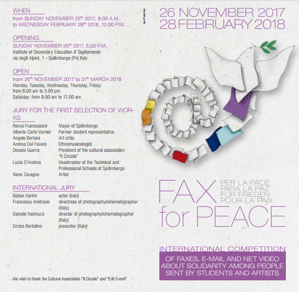 "Gold Pencil_""Fax for Peace"" International Competition 2018"