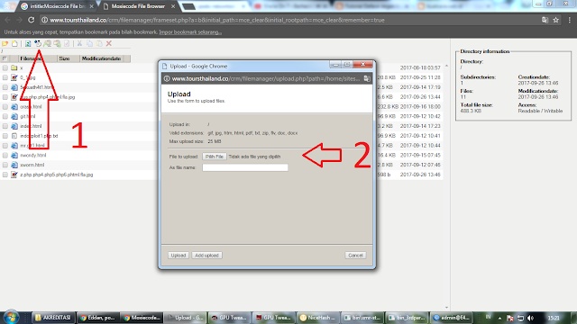 Deface Website Metode Moxiecode File Browser | File Upload Vulnerability