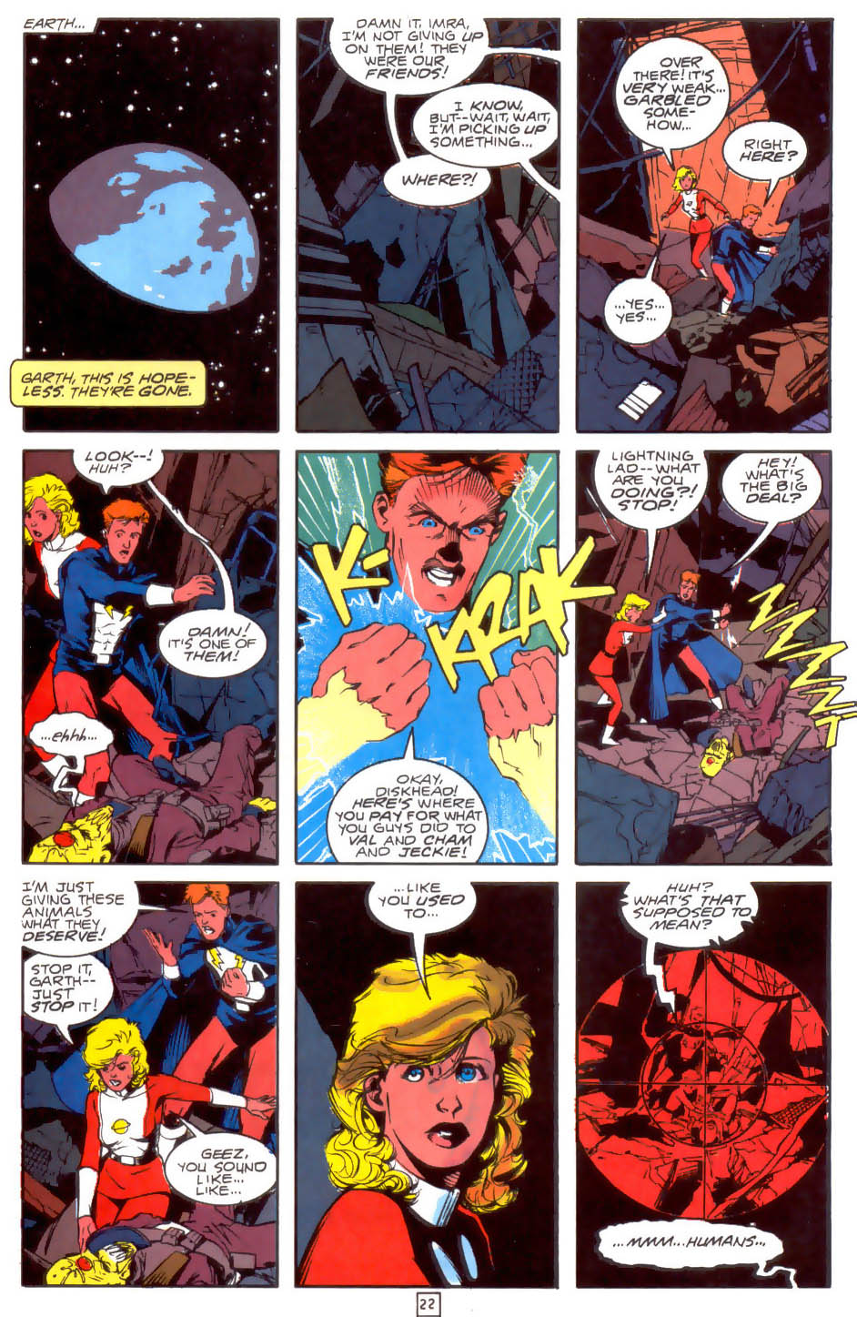 Legion of Super-Heroes (1989) 33 Page 22