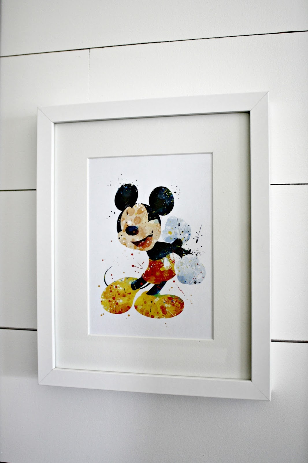 Our Fun Disney Art Wall From Thrifty Decor Chick