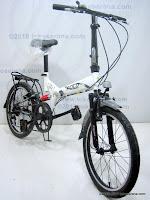 3 Sepeda Lipat FOLD-X  TOKYO  Dual Suspension 20 Inci