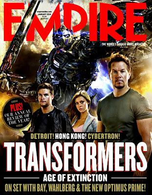 Coperta Empire Magazine dedicată filmului Transformers: Age Of Extinction