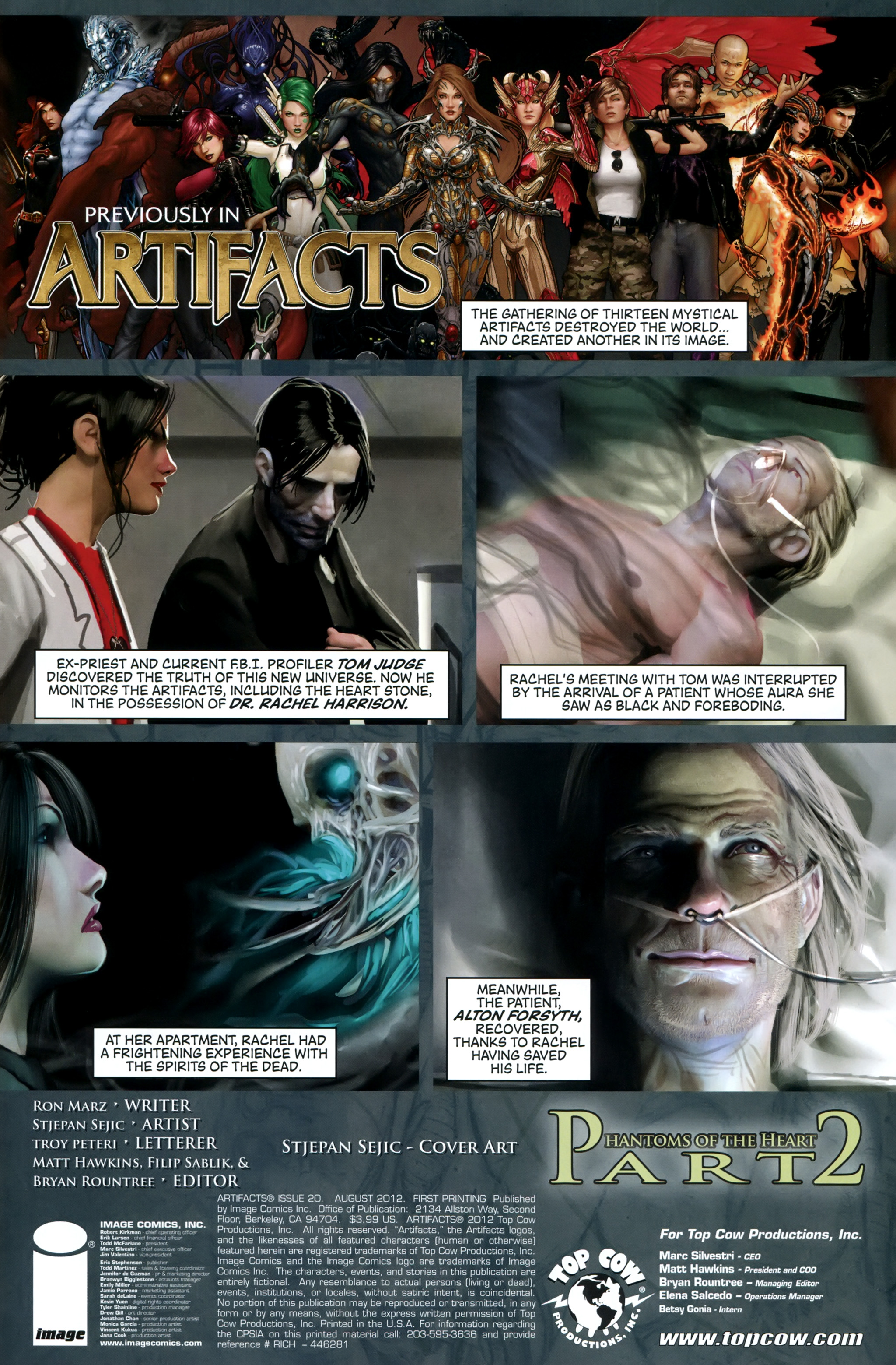 Read online Artifacts comic -  Issue #20 - 2