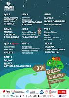 Programa Semana Académica do Algarve 2018