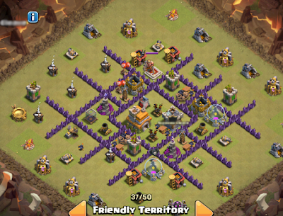 War Base TH 7 Terkuat dan Terbaik Anti Naga / Dragon
