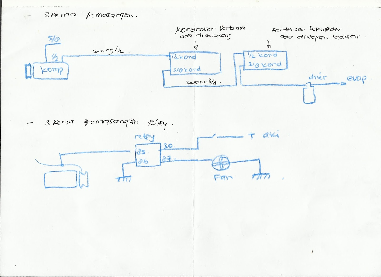 rangkaian wiring sederhana dan pengukurannya [ 1600 x 1163 Pixel ]