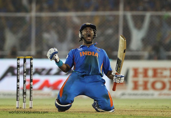 What are some of the most iconic images of Yuvraj Singh?