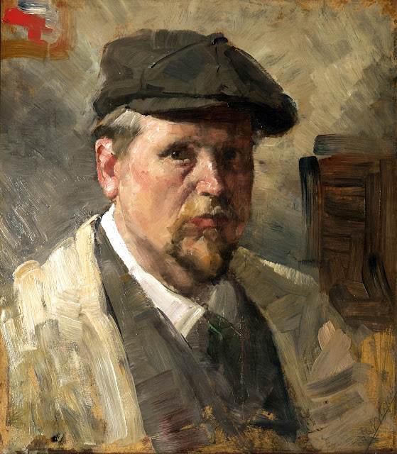 Reinhold Werner, Self Portrait, Portraits of Painters, Fine arts, Portraits of painters blog, Paintings of Reinhold Werner, Painter Reinhold Werner