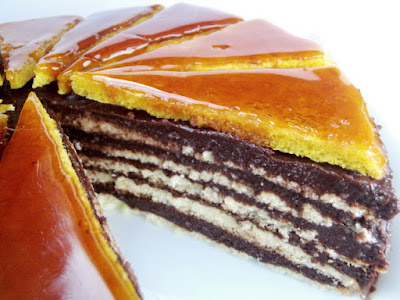 Tort Dobos taiat (reteta de foi si crema)