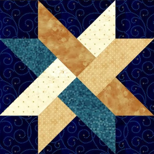 Weave Star Block - Free Quilt Pattern