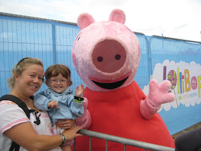 Meeting Peppa Pig