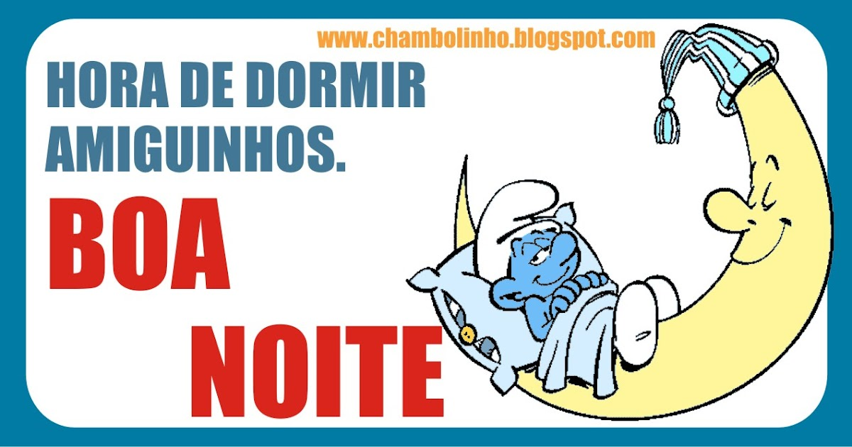 Chambolinho Recadinho De Boa Noite Pra Facebook: Boa Noite Pra Facebook Smurfs