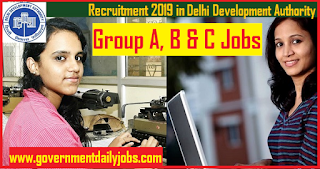 DDA Recruitment 2019 for 190 Stenographer, Junior Engineer and Naib Tehsildar Jobs