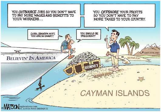 OUTSOURCING / OFFSHORING: TWO CARTOONS