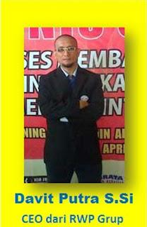 Davit Putra, CEO Kursus internet marketing RWP Grup di Bogor