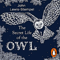 The Secret Life of the Owl audiobook cover. A white outline of an owl with wings spread wide soars across a dark blue starry background.
