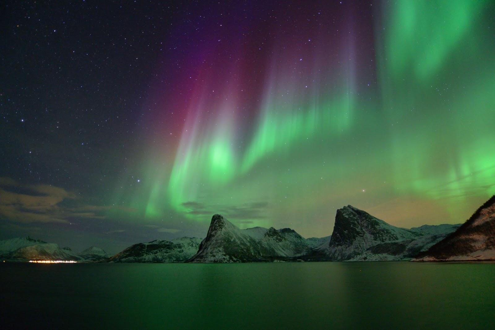Zorza polarna sfotografowana 07.03.2016 r. - Credits: Hugo Løhre - północ Norwegii
