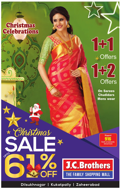 J.C Brothers up to 61% off, 1+1 and 1+2 offers ! | December 2016 christmas sale festival discount offers