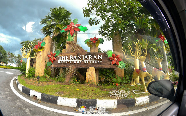 The signboard that lead you to the beautiful sanctuary The Banjaran Hotsprings Retreat