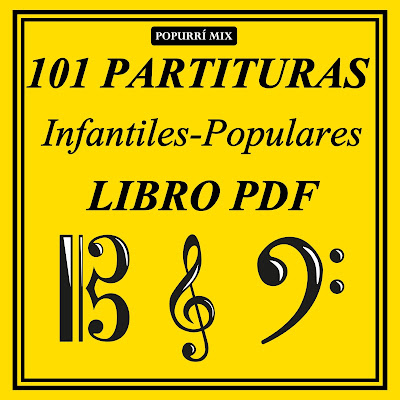 1000 Partituras Listado en Clave de Sol, Fa y Do tocapartituras.com