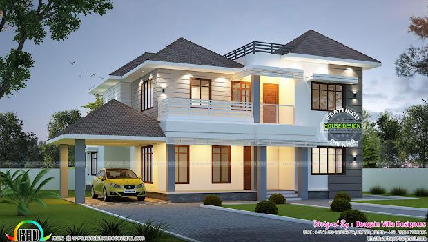 Classical Modern Home In 2730 Sq-ft - Kerala Design