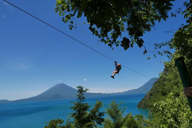 Ziplining at Reserva Natural Atitlán Guatemala